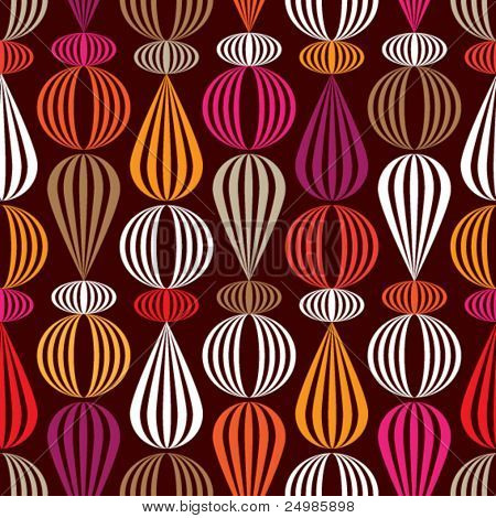 Seamless pink orange retro circle pattern background in vector