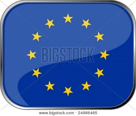European Union flag icon with official coloring