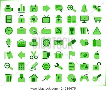 internet, office and multimedia icons