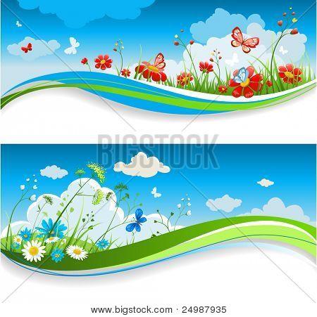 Summer positive banners