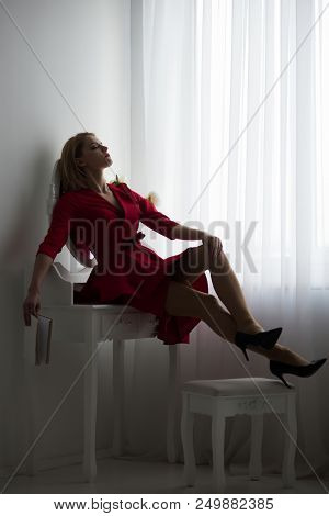 Leisure And Relax. Leisure And Relax Of Sexy Tired Woman In Bedroom. Time To Relax And Have Leisure