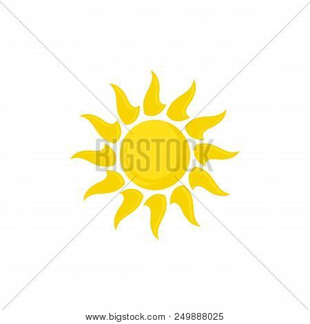 Sun Vector Logo Summer Icon Design. Sun Burst Star Logo Icon. Vector Yellow Sun Symbol. Vector Sun E