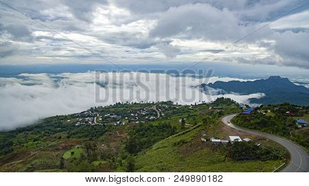 High Angle View Of Phu Tubberk Most Popular Traveling Destination In Petchabun Province North Easter