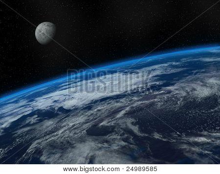Beautiful Earth and Moon