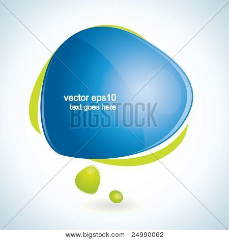 Modern, vector speech bubble with reflection