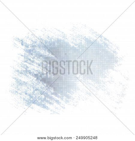Grey Grunge Mosaic Background. Vector Element For Different Design