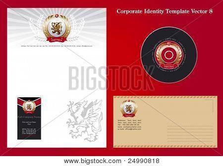Corporate Identity Template Vector 8