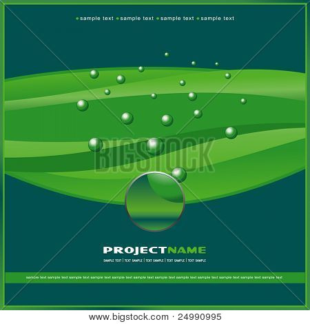 Cover template green background