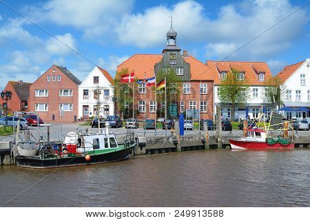 Harbor Of Toenning In North Frisia On Eiderstedt Peninsula,schleswig-holstein,germany