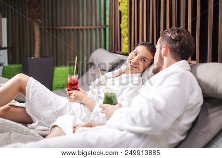 Spa Program For Couples. Romantic Date For Amorose In The Spa Resort
