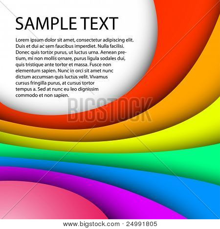 colorful background with custom text