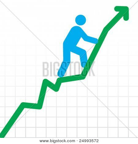 Vector Stairway to Success