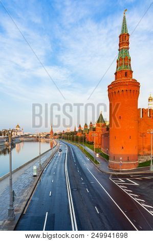 A View Of Moscow Kremlin In The Morning, Moscow, Russia