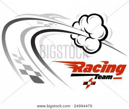 Vektor-Symbol im Zusammenhang mit Geschwindigkeit und racing