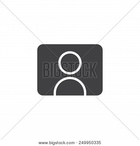 Video Streamer Blogger Vector Icon. Filled Flat Sign For Mobile Concept And Web Design. Youtuber Sim