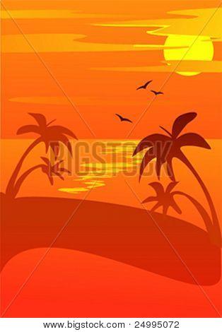 Vector sunset