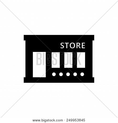 Store Vector Icon Flat Style Illustration For Web, Mobile, Logo, Application And Graphic Design. Sto