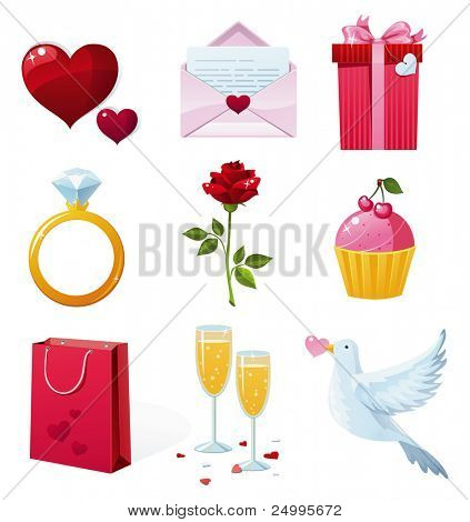 Beautiful St. Valentine's Day icons