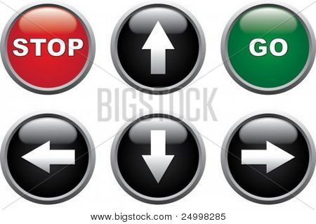 Stop, Go and Arrows buttons