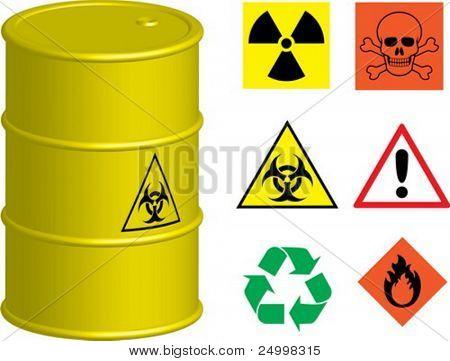 Barrel with a few symbols