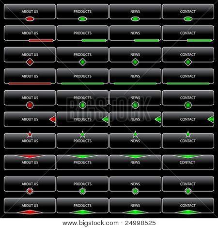 Web navigation templates
