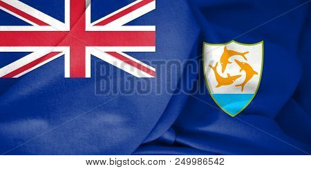 3d Flag Of The Anguilla. 3d Illustration.
