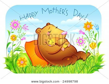 Mother's day, mother and her child, Very lovely and gentle