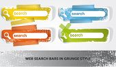 Set of search banners in grunge style poster