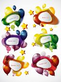 speech bubbles and baloons poster