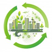 Green city. Environment  background. poster