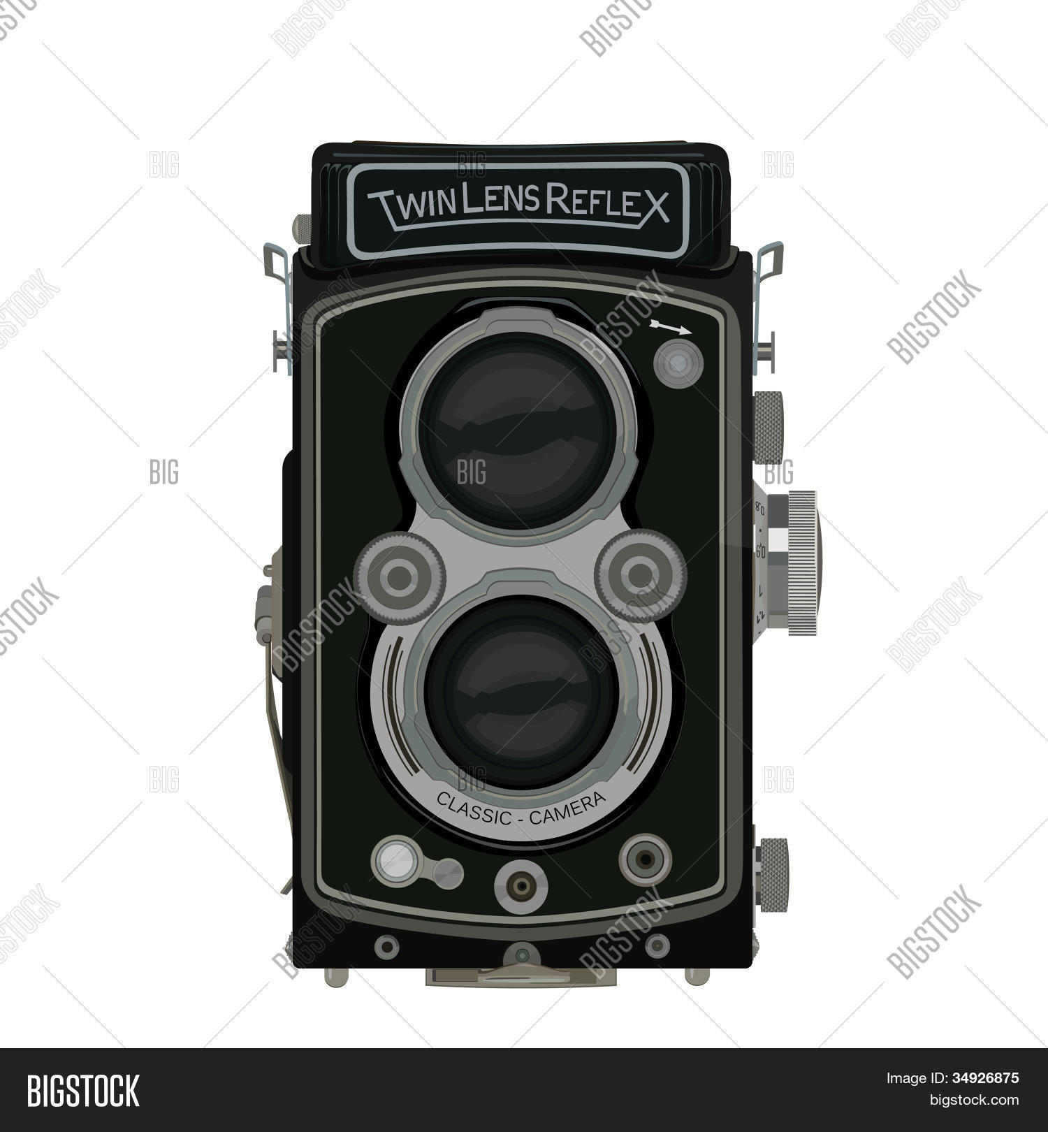 Old School Classic TLR Camera Vector & Photo | Bigstock