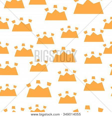 Trendy Seamless Pattern With Graphic Abstract Crowns.  Geometric Wallpaper, Cute Cartoon Scandinavia