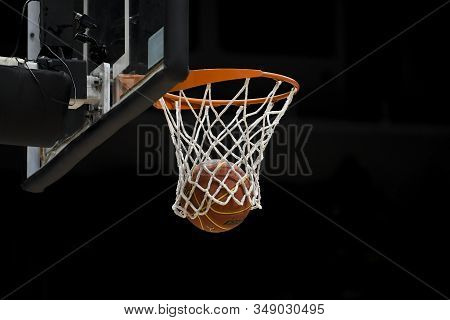 Rio, Brazil - February 03, 2020: Net And Ball In Match Between Flamengo And Cearense By The Brazilia