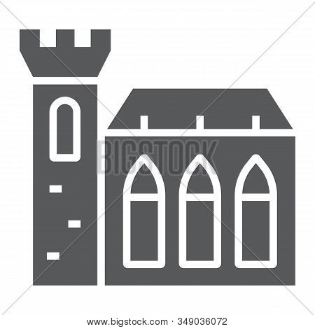 Dublin Castle Glyph Icon, St Patricks Day And Holiday, Ireland Castle Sign, Vector Graphics, A Solid