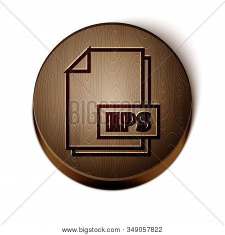 Brown Line Eps File Document. Download Eps Button Icon Isolated On White Background. Eps File Symbol