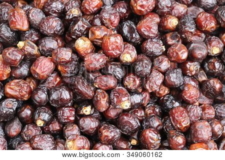 Dates Fruits Backgrounds. Pile Of Dates Fruits In A Shop