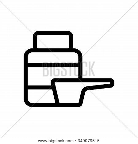 Supplement Sports Vector Icon. Thin Line Sign. Isolated Contour Symbol Illustration