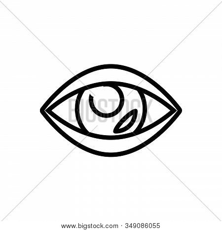 Black Line Icon For Vision See View Look Sight Watch Eyesight Peep Eyeball