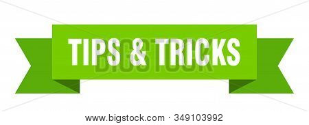 Tips And Tricks Ribbon. Tips And Tricks Isolated Sign. Tips Tricks Banner