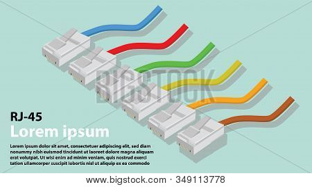Electrton Objecthead With Colorful Rj45 Signal Cable.