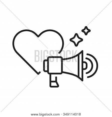 Lgbt Propaganda Black Color Line Icon. Lesbian, Gay, Bisexual, Transgender. Rainbow Power Concept. P