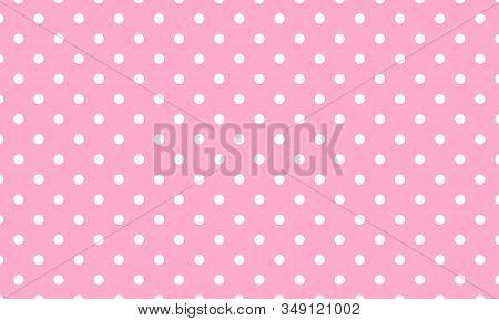 Baby Pattern Vector. Polka Dot Background. Pink Pattern. Eps10.
