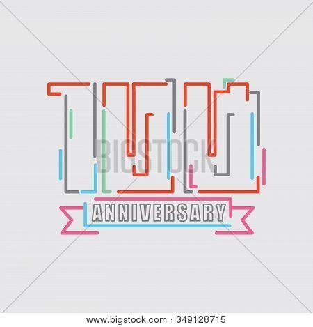 100th Years Anniversary Logo Birthday Celebration Abstract Design Vector Illustration. Eps 10
