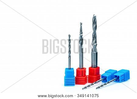 Special Tools Isolated On White Background. Made To Order Special Tools. Coated Step Drill Detail. H