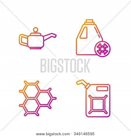 Set Line Canister For Gasoline, Chemical Formula Consisting Of Benzene Rings, Canister For Motor Mac