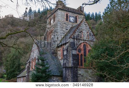 St Mary's Church In Betws-y-coed With The Clock Tower In View