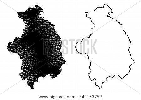 District Of Mitrovica (republic Of Kosovo And Metohija, Districts Of Kosovo, Republic Of Serbia) Map