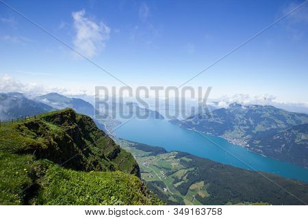 View Over Lake Lucerne, Seen From Niederbauen