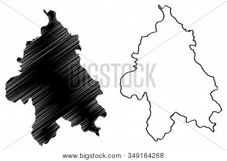 City Of Belgrade (republic Of Serbia, Districts In Sumadija And Western Serbia) Map Vector Illustrat