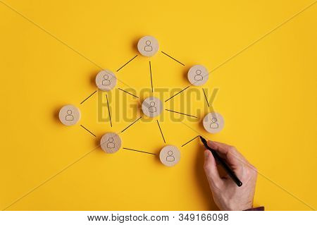 Conceptual Image Of Network Marketing
